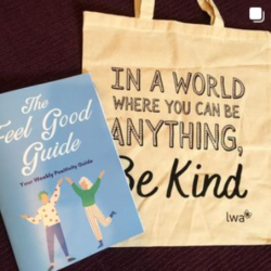 Feel Good guide and canvas bag